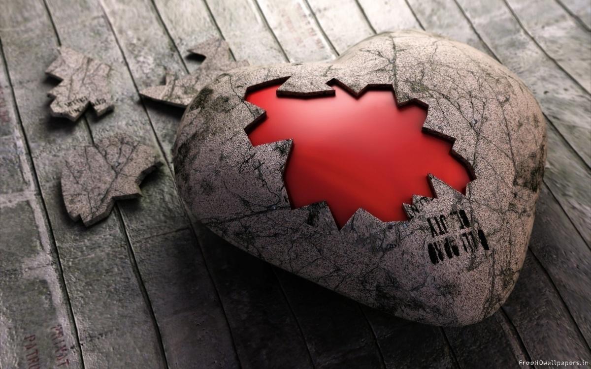 Sloop de muur rond jouw hart