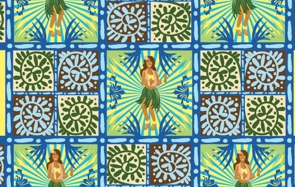 hawaii_floral_wallpaper_vector_free_48378