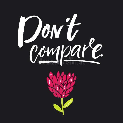 don-t-compare-inspirational-phrase-motivational-quote-posters-cards-brush-lettering-black-background-don-t-compare-103568250